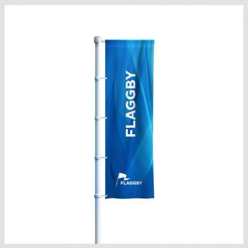 Flaggor stående, reklamflaggor