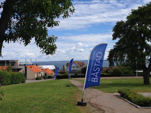 Beachflaggor under Entreprenörsveckan Båstad