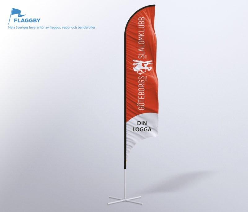 Exempel på sponsorflagga
