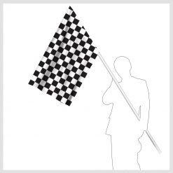 Signalflagga svart och vit rutig