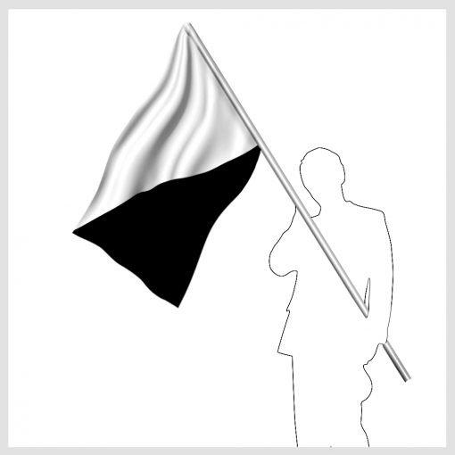 Svart och vit signalflagga