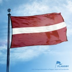 Lettlands flagga