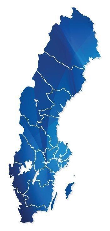 Flaggby Sverige karta